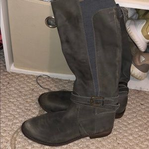 Shoes - Gray kid calf boots